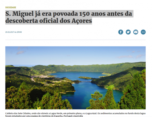 Article in Expresso about study on the Azores Islands, which counted with the participation of Armand Hernández