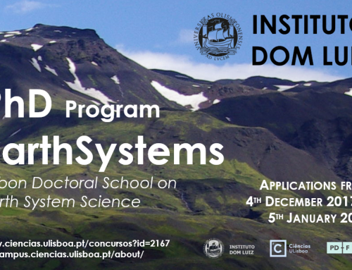 Earthsystems PhD 2018 call is open from 4th December 2017 to 5th January 2018